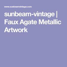 sunbeam-vintage   Faux Agate Metallic Artwork
