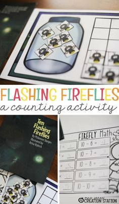 Tackle teaching math and literacy at the same time with this summer-themed firefly counting activity! Kids will love this engaging math activity that will keep them learning in the down time of summer. It will definitely be a free printable that your students will enjoy! #literacy #coutingactivity #freeprintable #counting #activity #kindergarten