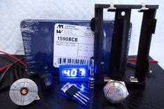 26650 Box Mod kit 1590B Blue - Motley Mods - 1