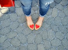 """Not typically a """"heart"""" wearer...but I do like these shoes w/ the distressed jeans...Fash Boulevard: I Heart..."""