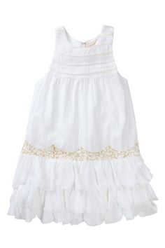 Cotton Embellished Ruffle Dress on HauteLook