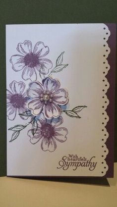 Flowers Shop Design Pretty Cards 57 New Ideas - Flowers Shop Design Pretty Cards 57 New Ideas - Homemade Greeting Cards, Making Greeting Cards, Greeting Cards Handmade, Homemade Cards, Pretty Cards, Cute Cards, Tarjetas Stampin Up, Stamping Up Cards, Handmade Birthday Cards