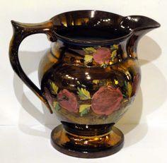 copper lustre puzzle jug - Google Search