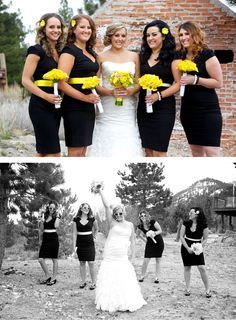 Black and yellow wedding (Jeramie Lu Photography)