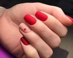 Nogti squoval nails - in 2020 Stylish Nails, Trendy Nails, Feet Nails, My Nails, Bling Nails, Short Red Nails, Nagel Hacks, Nagellack Trends, Nail Polish