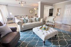 Living room - carpet pattern for living or dining.