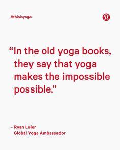 Do yoga, be yoga.