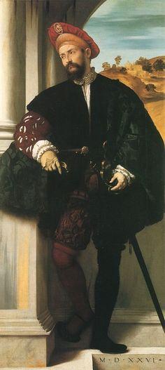 An Unknown Italian Noble by Moretto da Brescia, 1526. (National Portrait Gallery, London)