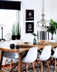 Salas de jantar ecléticas