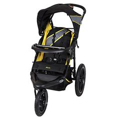 Get a workout with this XCEL jogger stroller from Baby Trend. The Xcel Jogging Stroller features large bicycle tires and a front swivel wheel that can be unlock Running With Stroller, Baby Jogger Stroller, Pram Stroller, Baby Strollers, Running Strollers, Single Stroller, Baby Trend Car Seat, Baby Car Seats, Best Baby Prams