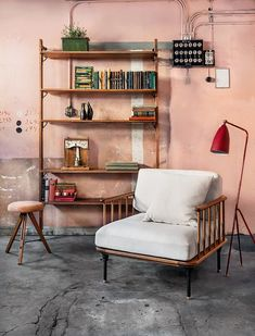 Relax area. Theo Wall Unit and Distrikt Armchair.