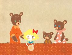Goldilocks and the Three Bears Art Print