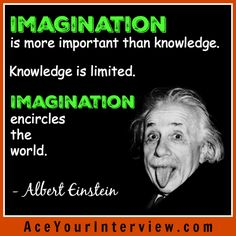 #AlbertEinstein #quote - Imagination is important! #job #interview #JobSearch #hiring #jobs