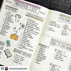 """""""How seriously adorable is this #packinglist from @emschwartzrdn? I so many #lists on post it notes and random pieces of paper, of COURSE I should keep it…"""""""
