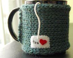 Tea Love Mug Cozy Knitted Chai Cup Cosy