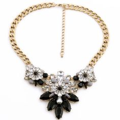 Ombre Grays Crystal Statement Necklace Beautiful necklace. ALL JEWELRY IS BUY 2 GET 1 FREE! Jewelry Necklaces