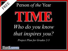 Time Magazine Person of the Year Writing Project | Grade 2,3,4,5, perfect for Mother's Day or Father's Day!