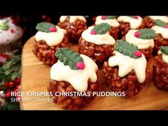 These look so good yet they're so quick and easy! A definite one to try this Christmas. Rice Krispies Christmas Puddings! - She Who Bakes