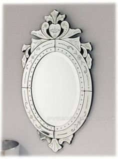 Clear Glass Oval Venetian Mirror 70 x 40cm [EE702] - £145.80 - Mirrors for Every Interior from Exclusive Mirrors