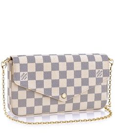 With its two removable interior pockets, the elegant Pochette Felicie in Damier Azur canvas is the stylish solution to carry and organise all your daily essentials White Louis Vuitton Bag, Louis Vuitton Bags, Louis Vuitton Dress, Louis Vuitton Felicie, Louise Vuitton, Louis Vuitton Collection, Fashion Handbags, Fashion Bags, Tumblr Outfits