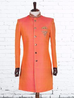Jamawar Alluring Orange Indo Western