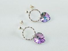 Elegant Girl's Jewelry, Earrings for Girl, Sterling Silver Earrings, Crystal Earrings, Elegant Gift for Girl, Christmas Gift for Girl by modotikon on Etsy