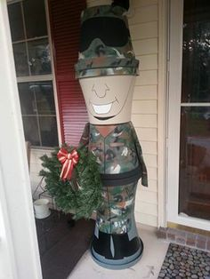 Support our Military! My GI Joe with Christmas Wreath.