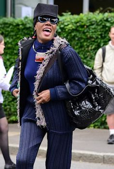 Grace Jones at WImbledon 2013