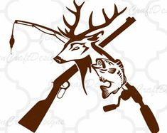 Deer and Hook in Svg, eps, dxf, Ai and PNG Format fishing svg file for Cricut and Silhouette, Hunting Fishing Cricut Vinyl, Vinyl Decals, Car Decals, Armas Wallpaper, Hunting Decal, Hunting Art, Hunting Shirts, Turkey Hunting, Archery Hunting