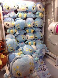 Pokemon Photos from Tokyo - Piplup Manaphy plushie crane game