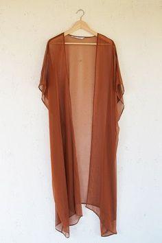 Bohemian White Silk Sheer Kimono Cardigan | shop velvet moon ...