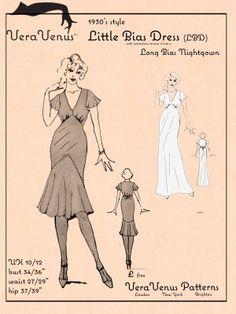 Vera Venus Little Bias Dress, free pattern - nicht alltagstauglich, aber ein sexy Nachthemd für mich?