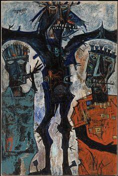 F. N. Souza, Crucifixion, 1959