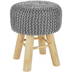 Tabouret tricot Lise gris clair - Stool, Furniture, Home Decor, Gray, Garden Stools, Tricot, Decoration Home, Room Decor, Home Furnishings