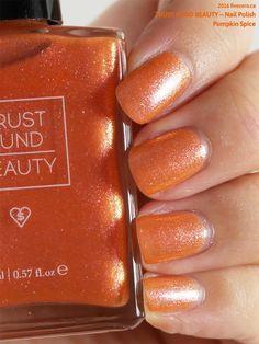 Trust Fund Beauty Nail Polish in Pumpkin Spice, swatch