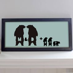 Personalised Family Bear Print by Little Pieces, the perfect gift for Explore more unique gifts in our curated marketplace. Poster Prints, Framed Prints, Posters, Personalised Prints, Family Illustration, Bear Print, Big Bear, Unique Gifts, Colours
