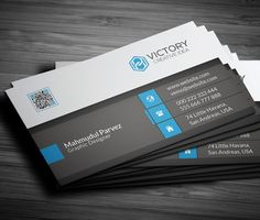 Clean Corporate Business Card #businesscard #branding #printready #CMYK #psdtemplate #minimaldesign #printable