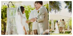 the windows draws the eyes not only to the couple, but the expansive views of the vineyard. love!