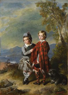 Franz Xaver Winterhalter Albert Edward, Prince of Wales, with Prince Alfred 1849