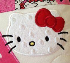 Kitty 2 Applique Machine Embroidery Design 4x4 5x7 hello INSTANT DOWNLOAD
