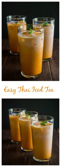 A super simple recipe for Thai Iced Tea. So refreshing! This is how most restaurants prepare it. Now you can make it at home at a fraction of the cost!