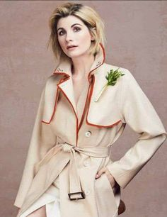 Sexy 13th Doctor. It's Jodie Whittaker with a costume inspired by 5th (Peter Davison).