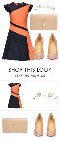 """""""Untitled #8"""" by bebebelabee on Polyvore featuring Lattori, GUESS, Yves Saint Laurent and Christian Louboutin"""