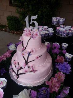 Quincenera Cake & Cupcakes