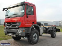 3 units Mercedes ACTROS 2031-A 4x4  chassis cabin - NEW  Price: € 84.000,-  Axles: 4x4  Emission: Euro 2  Cabin: day cabin  HP/KW: 310 HP / 231 Kw  Gearbox: Manual gearbox  Wheelbase: 4500 mm  Suspension: steel spring  More information: http://www.pktrucks.com/stock/view/me2760