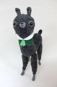 Guhhhhhhh!!!!!Grey Bobble Alpaca  Made to Order by catrabbitplush on Etsy