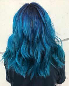 @aimeedoesmyhair is the artist... Pulp Riot is the paint.    #pulpriothair #hair #haircolor #hairstyle #beauty #blues