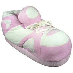 Pink and White Go Happy Feet Slippers