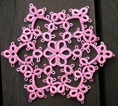 Tat-a-Renda: Featherline Snowflake free pattern