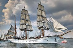 Gorch Fock at Hanse Sail, Rostock, Germany